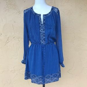 Forever 21 Boho Dress Long Sleeve S